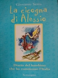 """La copertina del libro: """"La cicogna di Alessio"""""""